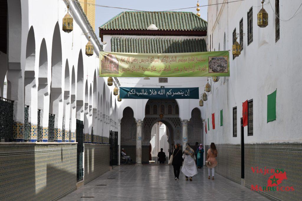 Mausoleo Mulay Idris desde fuera - Marruecos