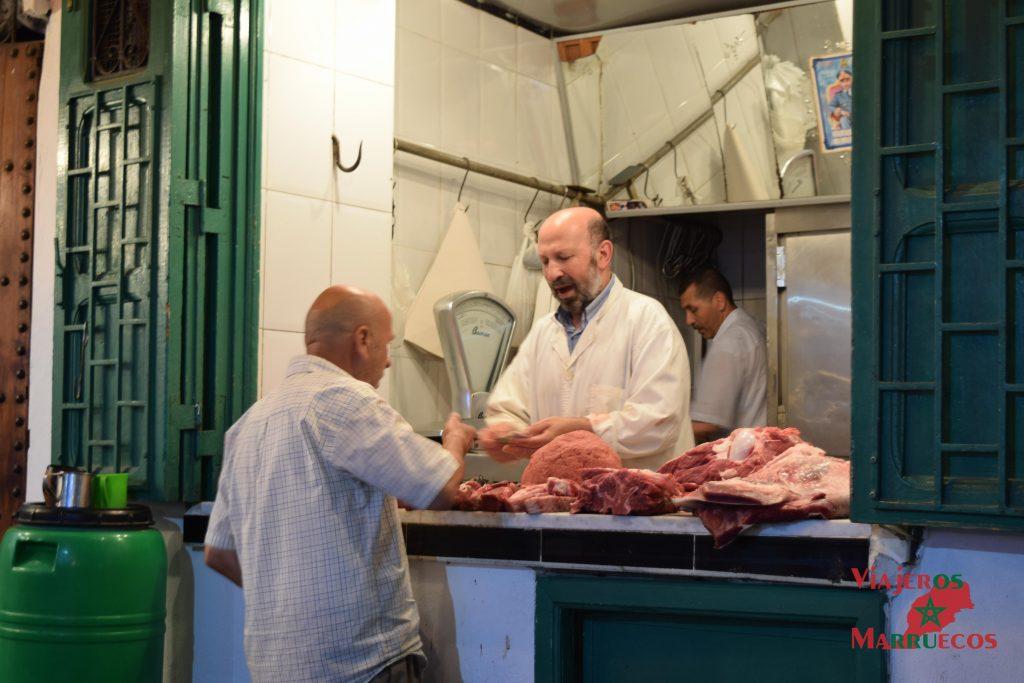 Carnicería en la medina de Tetuan