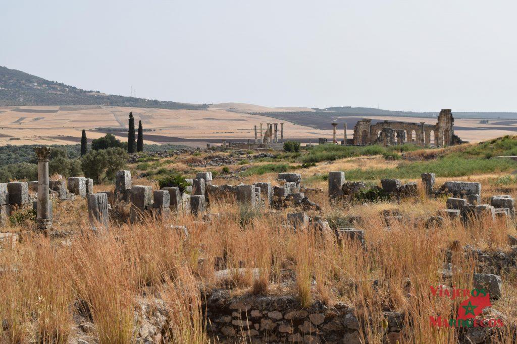ruinas romanas de volubilis marruecos