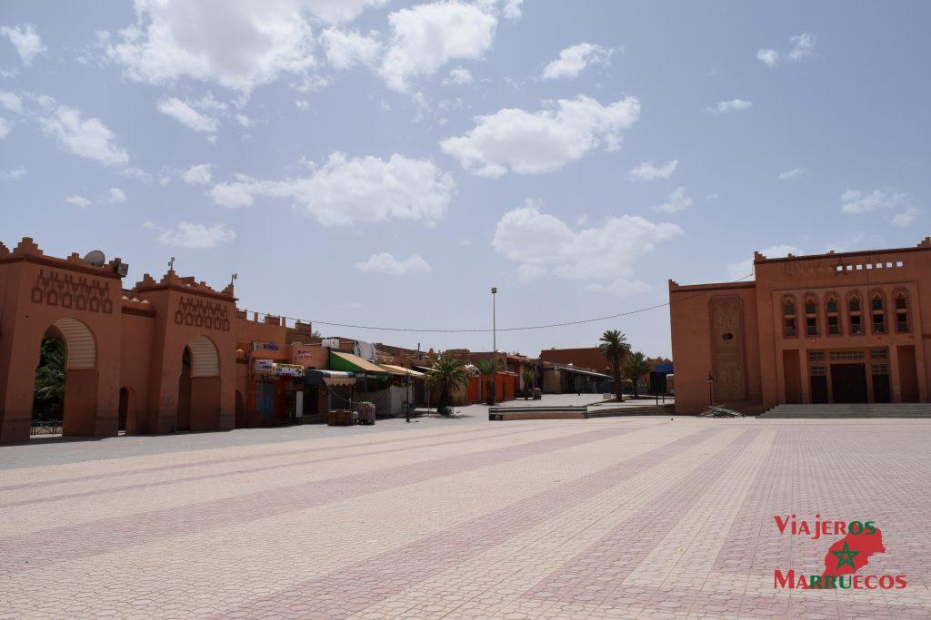 Plaza central de Ouarzazate
