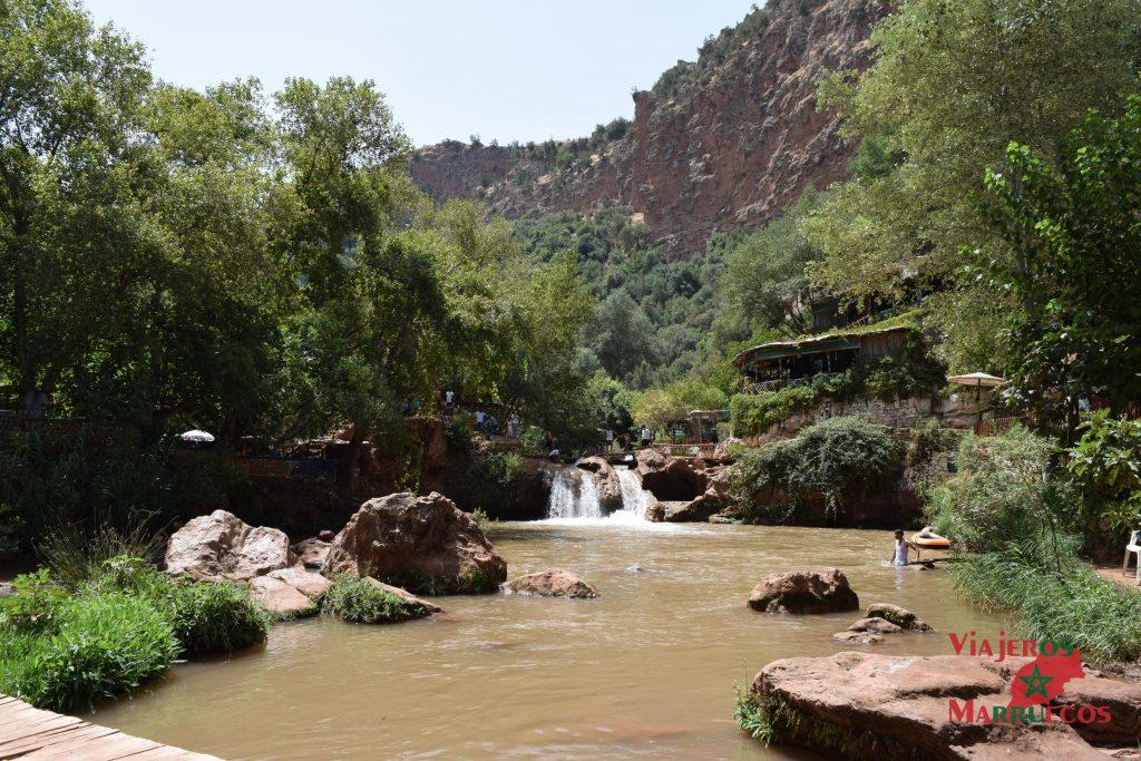 Zona de baño en Ouzoud cataratas de Ouzoud