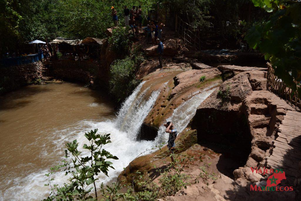 Zona de baño en las cascadas de Ouzoud
