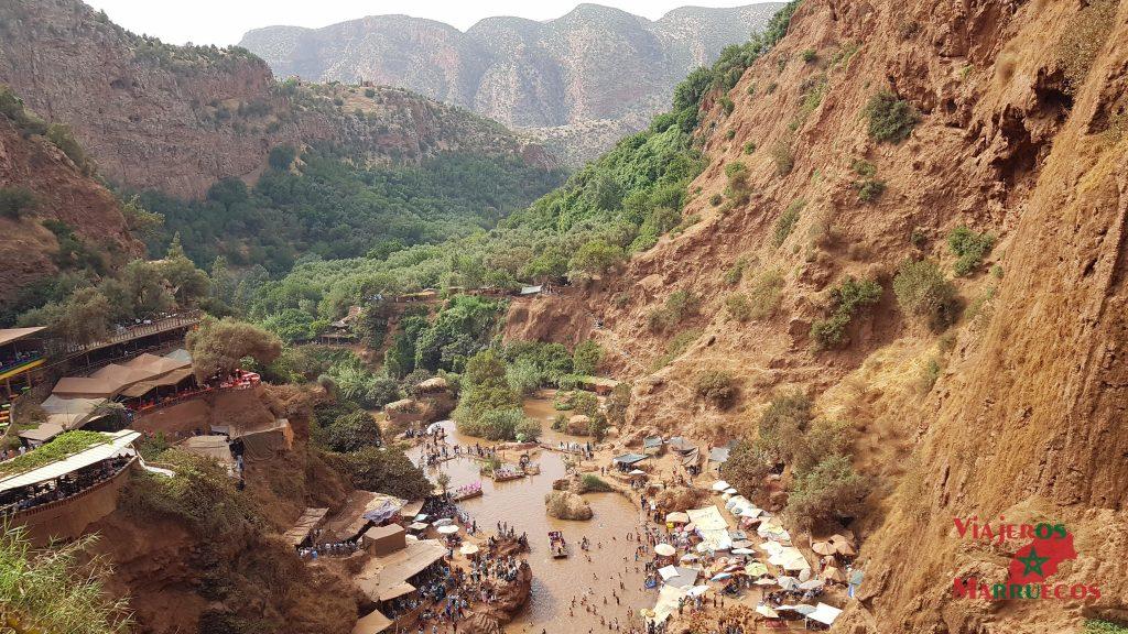 Panorámica de las cascadas de Ouzoud